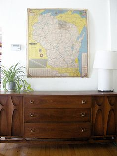 I often flirt with the idea of hanging a Wisco map.  This looks darn good.