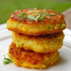 Gorgeous corn fritters just like the ones I ate at Zazu Farm and Restaurant this past summer.