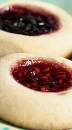 fields jam thumbprint cookies - Let's Talk About Food, Baby - Jam Thumbprint Cookies, Jam Cookies, Shortbread Cookies, Yummy Cookies, Chip Cookies, Sugar Cookies, Fruit Cookies, Shortbread Recipes, Baking Cookies