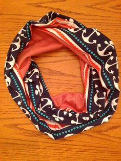 Anchors Away Infinity Scarf by KutKloth on Etsy, $12.00