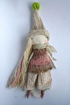natural pale little lu pixie 13ish handmade rag par humbletoys