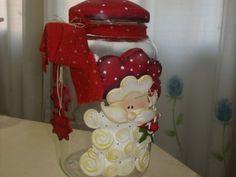 vidros para doces e biscoitos trabalhados em biscuit