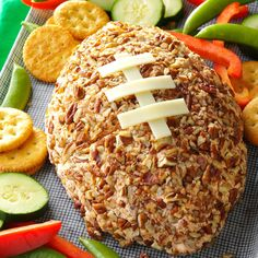 9 Football-Shaped Foods for Your Game Day Party - From tailgating outings to Super Bowl parties, make these cute football-shaped appetizers, sandwiches, desserts and more when you need a winning game day recipe. Tailgate Appetizers, Cheese Appetizers, Appetizer Recipes, Tailgating Recipes, Football Recipes, Party Appetizers, Party Snacks, Sandwich Appetizers, Finger Sandwiches
