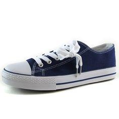 Women's Liliana Kicks Navy blue Color Flat Sneaker Shoes, Kicks Navy
