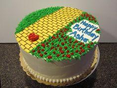 yellow brick road cake