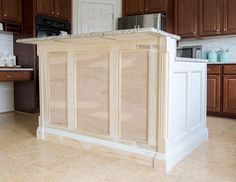 Building a Kitchen Island ( Our DIY Renovation) - You know when you have seen a problem for the longest time but could not for the life of you figure - Diy Kitchen Island, New Kitchen Cabinets, Kitchen Ideas, Kitchen Decor, Ikea Kitchen, Cupboards, 10x10 Kitchen, Stock Cabinets, 1960s Kitchen