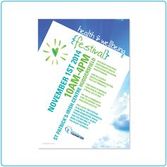 Health & Wellbeing Festival – flyer and poster design – graphic design – Designed by Tree