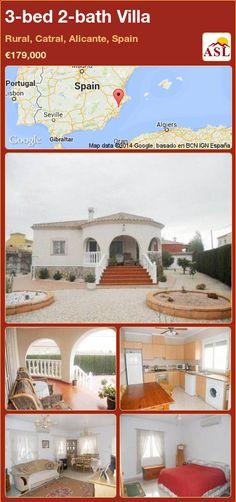 3-bed 2-bath Villa in Rural, Catral, Alicante, Spain ►€179,000 #PropertyForSaleInSpain
