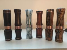 Cocobolo-Bocote-Acrylic short reed Canada goose calls $75 EACH plus shipping ! Goose Calls, Duck Calls, Duck Hunting, Wood Turning, Canada Goose, Game, Ideas, Venison, Woodturning