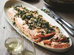 This beautiful baked salmon recipe was a must when Deborah Hutton was selecting recipes for her new book, 'Entertaining Made Easy'. After featuring it on The Australian Women's Weekly's TV Chistmas special, it has become a favourite on her Christmas table Aussie Christmas, Summer Christmas, Christmas Lunch, Christmas Cooking, Christmas Recipes, Australian Christmas Food, Christmas Entertaining, Christmas Menu Ideas, Christmas Goodies
