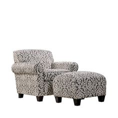 A warm grey and ivory easy chair for reading a book in. Just add lighting.