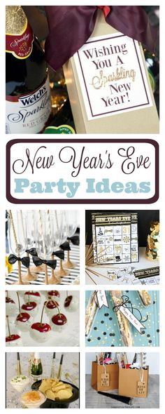 New Year's Eve Party Ideas to throw a fun NYE party whether it's at home with your family or a big bash for lots of people. New Year's Eve party food, favors, games and more. New Years Eve Party Ideas Food, New Years Eve Games, New Years Eve Food, New Years Party, Ideas Party, Fun Ideas, Gift Ideas, New Year's Eve Celebrations, New Year Celebration