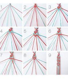 Modèles et techniques pour savoir comment faire et fabriquer un bracelet brésilien plat ou avec des motifs ou rond. Conseils mode facile à 4 fils ou en V.