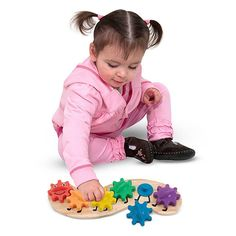 Melissa & Doug Rainbow Caterpillar Gear Wooden Toy