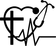 Faith, Hope, and Love vinyl decal with a cross, heart rhythm, and Stethoscope with no wording for car window, door, wall by SavageDesigns826 on Etsy