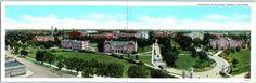 University of Oklahoma Double Folding Postcard Panoramic Campus View c1930s
