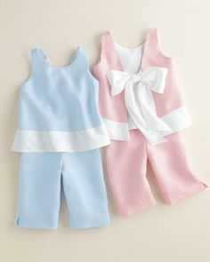 Linen Bow-Back Set by Helena and Harry - Baby Girls
