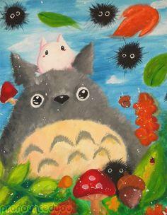 Totoro Painting by pronouncedyou.deviantart.com on @deviantART
