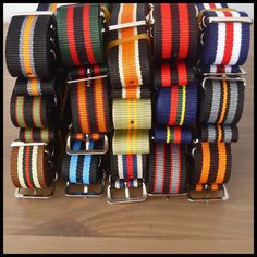 Pair up a coloured strap belt with your chinos to complete the look! Nato Strap, Woven Belt, Watch Straps, Automatic Watches For Men, Seiko Watches, Leather Belts, Watch Bands, Fashion Accessories, Forget