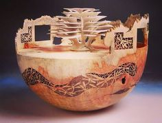 Beautiful art work by Binh Pho... Wood artist.. Turner. Ssculptor.... Indianapolis.. Indiana...