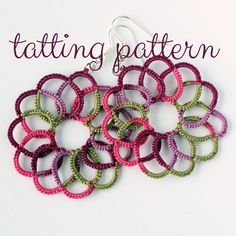 PDF Swirl earrings - tatting pattern by littleblacklace - instant download