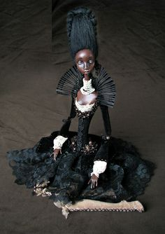 Onyx by Tireless Artist, via Flickr: I never get tired of seeing this artist's work. Genius craftsmanship on these dolls set them apart from any other. They are beautiful! If you get a chance check out this artist's flickr posts, you won't be disappointed!