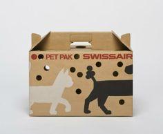 Swissair Pet Pak-Produktdesign