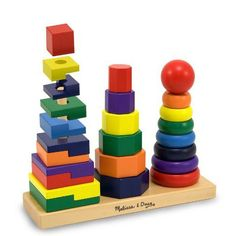 Melissa and Doug Geometric Stacker for Great Hand-Eye Coordination Skill