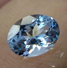 1 Carat 7.4X5.6 MM Natural Lustrous TOP QUALITY Aquamarine Oval Cut Gemstones #AquamarineTraders