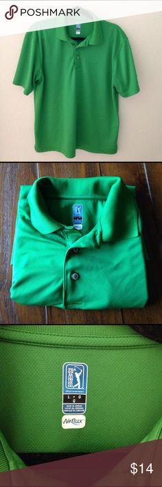 Men's PGA Tour airflux  golf polo Men's Green PGA Tour golf polo PGA Tour Shirts Polos