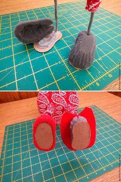 Кукольный мир: выкройки, одежда, миниатюра Handmade Crafts, Xmas, Diy Art, Shoes, Zapatos, Shoes Outlet, Christmas, Navidad, Shoe