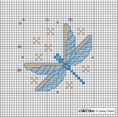 Free dragonfly chart and key from Lesley Teare - designed for Cross Stitch Collection. Get it here: http://crossstitcher.themakingspot.com/sites/crossstitcher.themakingspot.com/files/attachments/csc225.web_waterlily.pdf