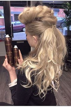 We love this half-up braided fauxhawk. Our stylist used L'ANZA Keratin Healing Oil Lustrous Finishing Spray and Keratin Healing Oil Hair Plumper to get this incredible look.