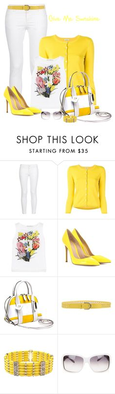 """""""Give me Sunshine"""" by lorrainekeenan ❤ liked on Polyvore featuring STELLA McCARTNEY, P.A.R.O.S.H., Mary Katrantzou, Gianvito Rossi, Coach, Coccinelle, Carissima Bijoux and Bulgari"""
