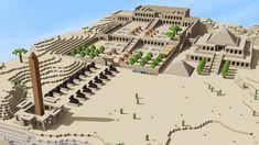I built the Temple of Hatchepsut : Minecraft - Olivia Homepage Villa Minecraft, Minecraft Pyramid, Château Minecraft, Minecraft Temple, Architecture Minecraft, Construction Minecraft, Minecraft Building Guide, Minecraft Structures, Minecraft Survival