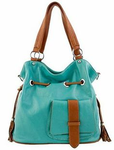 0872b2aaa01f Etasico Italian Leather Shoulder Bag Livia Made in Italy Aqua-Teal Camel.   designerhandbag