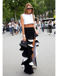 Fall 2013 Couture Week Street Style: Anna Dello Russo, wearing a Balenciaga dress