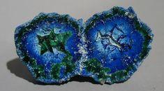 azurite/malachite geode from California, Inyo County