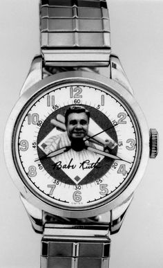 A Babe Ruth souvenir wristwatch. He was the first baseball player to hit 500 home runs.