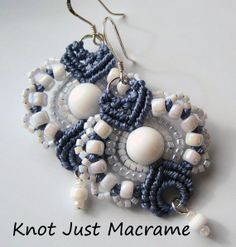 Micro Macrame Earring Patterns | Add it to your favorites to revisit it later.