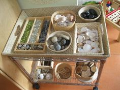 reggio-portable loose parts tray Play Based Learning, Learning Spaces, Learning Environments, Early Learning, Learning Resources, Reggio Classroom, Outdoor Classroom, Classroom Design, Reggio Emilia