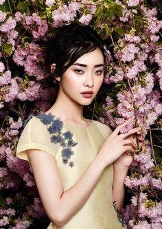 """Kwak Ji Young by Zhang Jingna in """"Flowers Bloom"""" for Fashion Gone Rogue"""