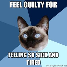 Feel guilty for..being sick and tired all the time... | Chronic Illness Cat