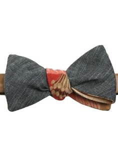 I'm crazy about cool bow-ties right now  ___  930S TAPESTRY PRINT & JAPANESE INDIGO BOWTIE