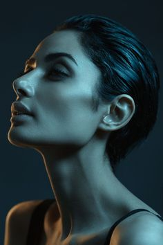 """Color Lights"" by Babak Fatholahi - #fstoppers #Portrait #girl #iran #persian #light #2colors #Beauty #headshot"