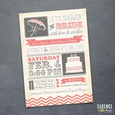 Vintage Bridal Shower Invitation DIY PRINTABLE by CadencePaige, $18.50