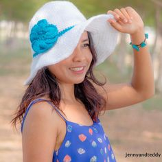 """Learn how to make this perfect wide brim sun hat for this summer with easy to follow pattern and tutorial. This is great for beginner crocheter as well mostly single crochet."""