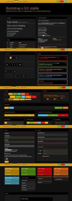 Bootstrap 3.0. Robotron yellow theme. UI Elements. $4.00