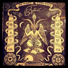 "Sabbatic goat (Baphomet) aka The Moor, Osiris, the perfect Black Man, Pan, Satan, Jesus, Saturn, black god, god of nature (horns). Devil means man in the physical. Man created from the blood of the Titans (666). Hell aka Heil which means the earth. It also means the serpent in the garden of eden, the kundalini energy on the inside of us. Hell is the root chakra, which is red. Capricorn the goat, is not evil. ""Jesus"" was born in Capricorn."