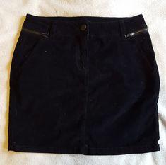 Jupe velours côtelé noir Étal t.34